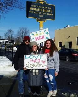 At the 2018 Women's March in Seneca Falls, NY